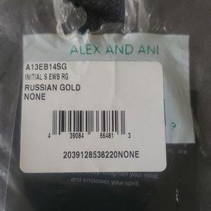 """Alex and Ani Jewelry - Alex and Ani """"S"""" Initial Goldtone Bracelet"""
